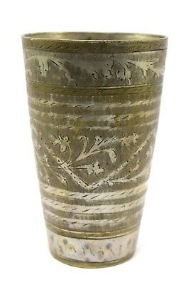 Indian Vintage Brass Traditional Tumbler, Old Brass Lassi Glass / Cup i40-112 AU