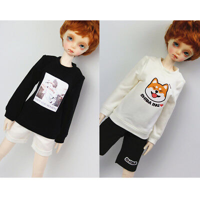 Fashion Doll Casual Costume Round Neck Sweatshirt Pullover For 1/4 BJD Dolls