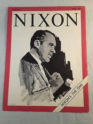 Nixon's The One Youth For Nixon Vietnam Draft Choice Campaign 1968 Brochure Vtg