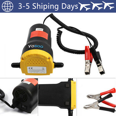 60W DC 12V Siphon Transfer Pump Extractor Oil Fluid Diesel for Car Motorbike UK