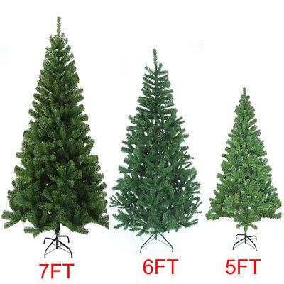 Artificial 5ft /6ft /7ft Christmas Tree Xmas With Metal Stand Xmas Decoration
