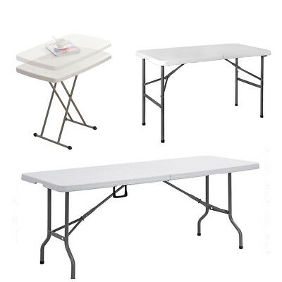 2.5FT 4FT 6FT Folding Table Heavy Duty Trestle Camping Party Picnic BBQ Wedding