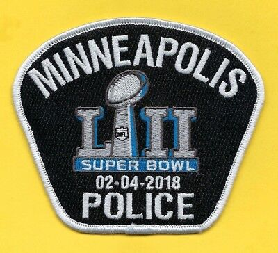 Minneapolis Police Department Super Bowl 52 Novelty Patch ~ Minnesota ~ Awesome