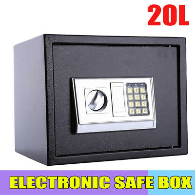 Electronic Password Security Safe Money Cash Deposit Box Office Home Safety 20L
