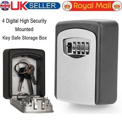 Outdoor Metal Security Wall Mounted Key Safe Box Case Secure Lock Combination ID