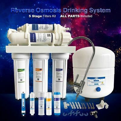 5Stage Reverse Osmosis Ro Water Filter System 50/75Gpd Ro Drinking Water System