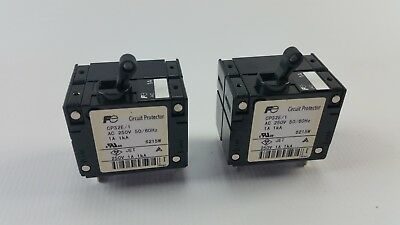 2pcs FUJI ELECTRIC CP32E/1 CIRCUIT PROTECTOR 1A 1kA LOT OF 2