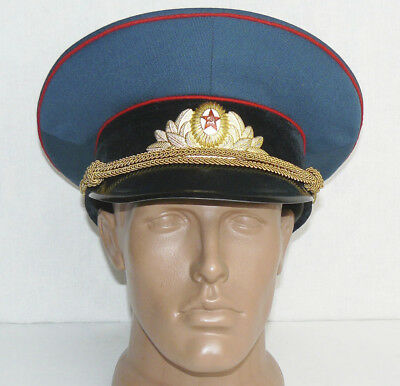Vintage Russian Soviet Army Officer Hat Cap Badge Military Uniform M Size 58
