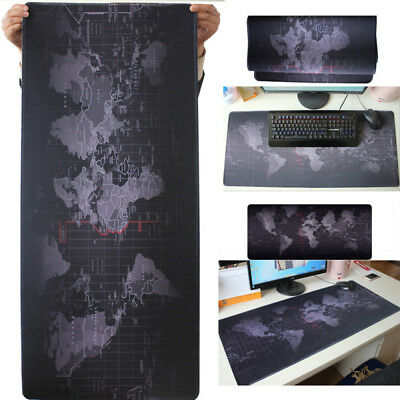 Extended Gaming World Map Mouse Pad Large Size Desk Keyboard Mat 80cm*30cm