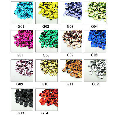 6mm Oval Round Cup Loose Sequins Sewing Wedding & Crafts - 14 COLOURS - 2000 PCS