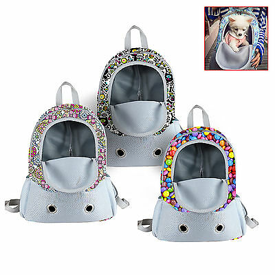 Small size Dog Cat Double Shoulder Bag Backpack Pet Travel Outdoor Dog Carrier