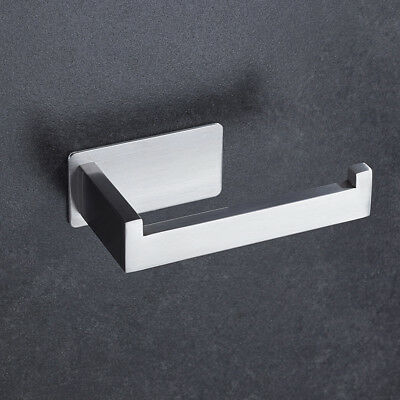 Bathroom Toilet Roll Paper Holder Wall Mounted Square Design Stainless Steel