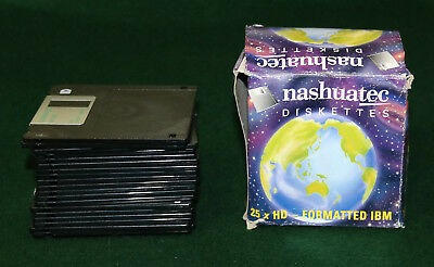 "20 AS NEW NASHUATEC HIGH DENSITY HD 2-SIDED DISKETTES IBM FORMATTED 3.5"" 1.44Mb"