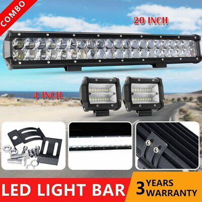 5D+ 20INCH Philips LED Light Bar Dual Row Combo Beam Work Driving Offroad 4WD