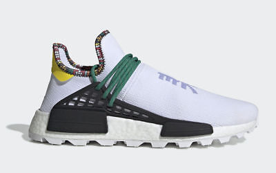 finest selection e67a5 53b69 ADIDAS PHARRELL WILLIAMS Human Race Nmd Hu Inspiration 8-13 White Green  EE7583