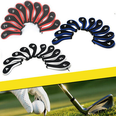 10x Neoprene Golf Club Covers Headcovers Head Cover Iron Protect Set 3 colors
