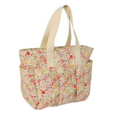 Double Strap Caddy Bag with Multiple Storage Pockets & Bright Floral Design