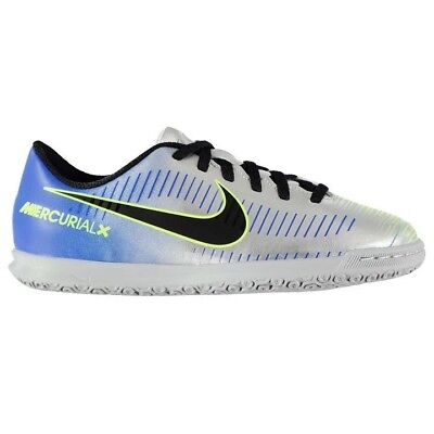 Junior Nike Mercurial Club Neymar Childrens Indoor Silver Football Boots 5e554a0fc107c