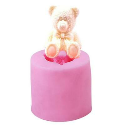 Silicone 3D Bear DIY Fondant Mold Cake Soap Cookies Chocolate Baking Mould MA