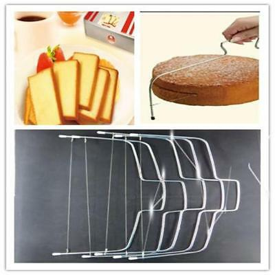 Adjustable Wire Cake Pastry Bread Pizza Dough Cutter Leveler Slicer Baking MA