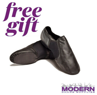 Express+ PLUS FREE GIFT DTTROL Dance Leather Upper Quality Black Jazz Shoes