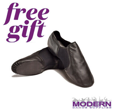 PLUS FREE GIFT DTTROL Dance Leather Upper Quality Black Jazz Shoes Express post