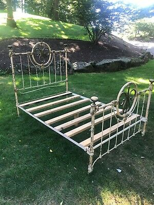 Antique French cast Iron bed circa 1800's