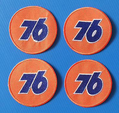 4 LOT UNION 76 GAS/OIL Embrodered Iron Or Sewn On Patches Free Ship