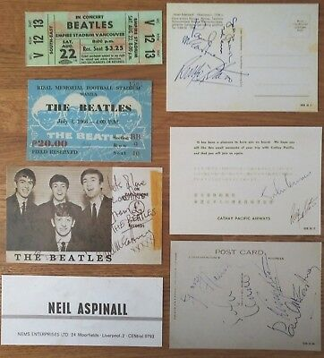 The Beatles-  Collection; 7 Pieces of Memorabilia.
