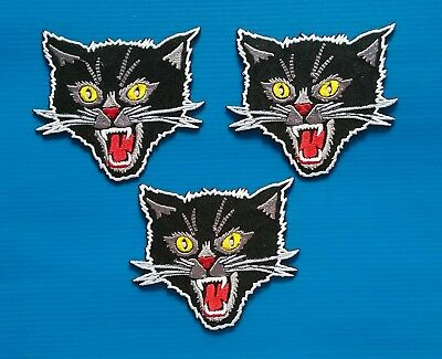 3 BLACK PANTHER  Embroidered Easy Iron Or Sewn On Patches Free Ship