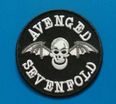 AVENGED SEVENFOLD Thrash Metal Band Embrodered Iron Or Sewn On Patches Free Ship