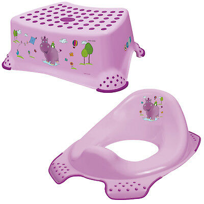 Keeeper 2-teiliges Set HIPPO Schemel einstufig & WC-Sitz Toilettensitz lilac TOP