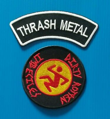 2 DRI DIRTY ROTTEN IMBECILES  THRASH METAL Iron Or Sewn On Patches Free Ship