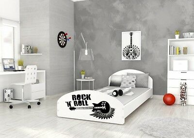 Modern Single Bed For Kids Childrens Teens + Mattress + Sticker + Free Delivery