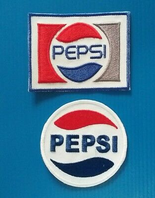 2  LOT PEPSI 3 X 2.25  & 2.5 INCH Embrodered Iron Or Sewn On Patches Free Ship