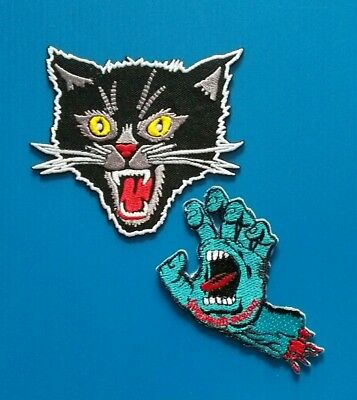BLACK PANTHER & CLAW  Embroidered Easy Iron Or Sewn On Patches Free Ship