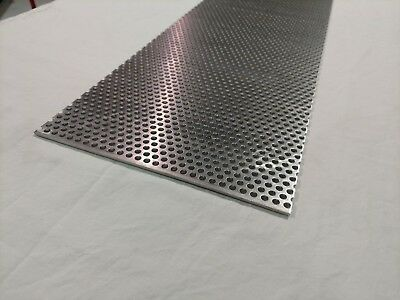 "Perforated Metal Aluminum Sheet .125 1/8"" Gauge 12"" x 12"" 1/4"" hole 3/8"" stagger"