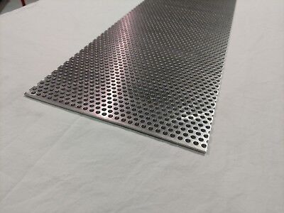 """Perforated Aluminum Sheet .125 1/8"""" Gauge 12"""" x 48"""" 1/4"""" hole  3/8"""" stagger"""