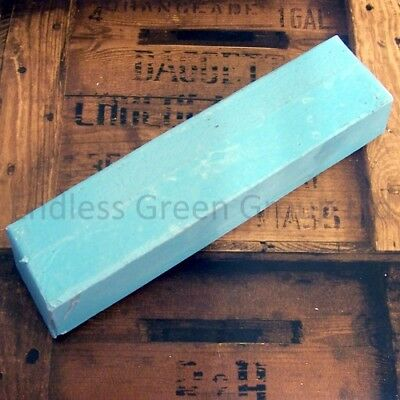 Honing paste - Sharpen Tools With A Leather Strop - Smurf Poo - BLUE BAR  750g