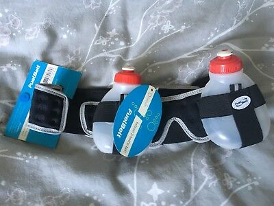 Fuel belt hydration and nutrition running belt, one size black