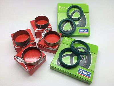 SKF Innteck Fork Oil, Dust Seals & Bushes 48mm KYB Kayaba Refurb Kit Motocross