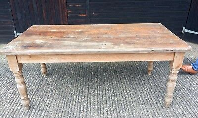 6ft Rustic French Farmhouse Dining Table, seats 8.