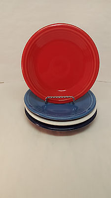 Fiestaware Salad Plate Lot of 4 mixed colors Fiesta 7.25 inch Small plates Multi