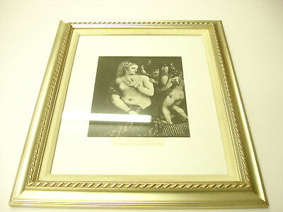 Rare Old ANTIQUE 1883 ART PRINT IN GOLD WOOD Frame THE TOILET OF VENUS BEAUTIFUL