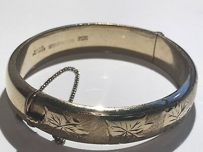 Heavy Solid Silver Bangle Stunning Not Scrap Lot 406