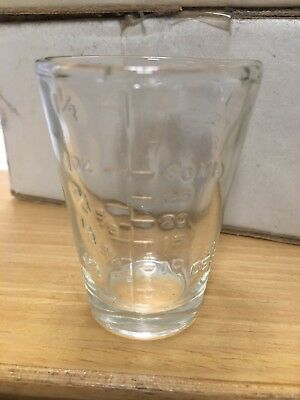 Vintage 2 Tbl, 8 Tsp, 1 Oz, 50 Cc, Shot Glass Measuring Cup
