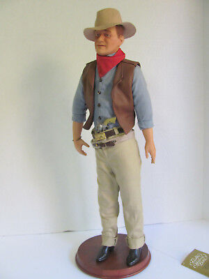 John Wayne Doll Franklin Mint with Stand