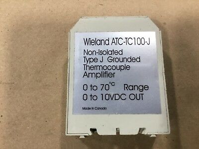 Wieland ATC-TC100-J Thermocouple Amplifier Non-Isolated 0 To 70 #27A36