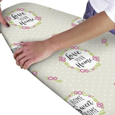 JML FAST FIT SLIM LINE ELASTICATED IRONING BOARD COVER BLACK /& WHITE TEXT