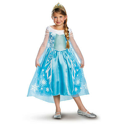 Girls Disney Frozen Princess Queen Elsa Dress Cosplay Halloween Kids Costume NEW